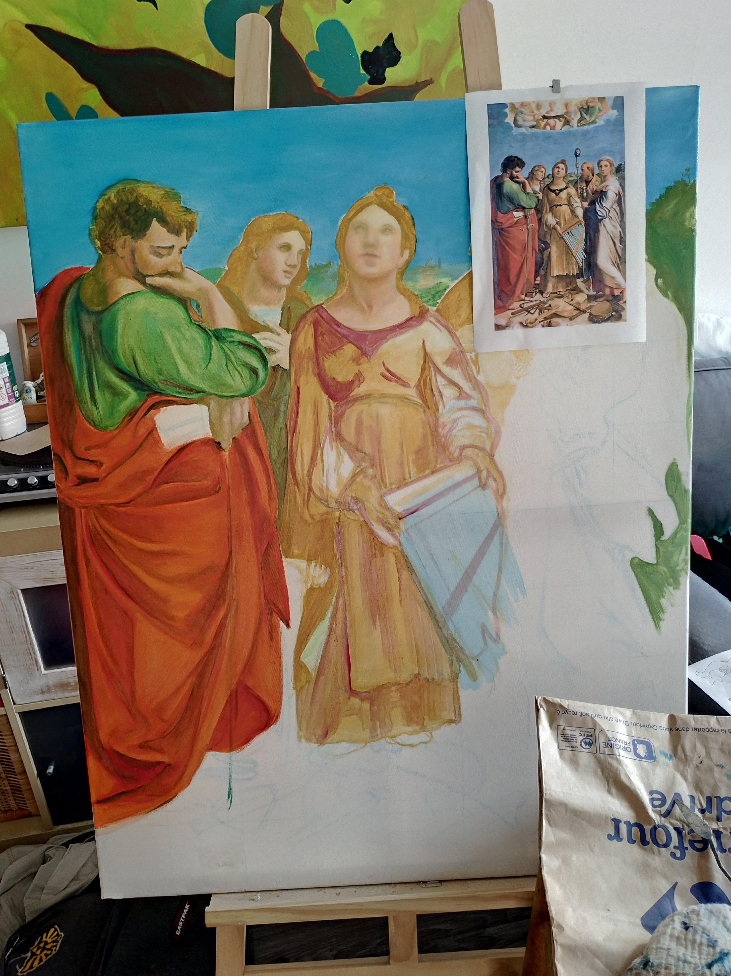 Copie de L'extase de Sainte Cécile par Raphaël